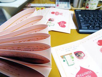 ★超早の3月カードをお送りしました。チョコ付きです♪